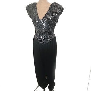 Gorgeous sequin jumper jumpsuit dress